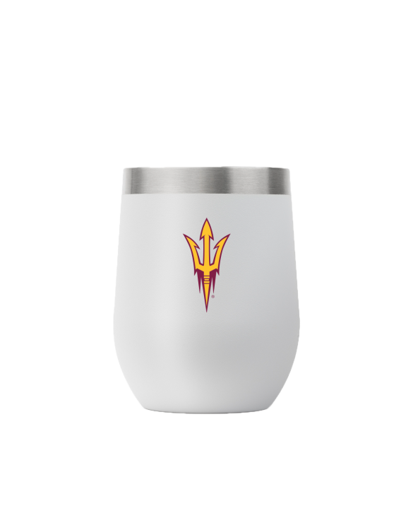 Arizona State 12 oz stemless light gray tumbler
