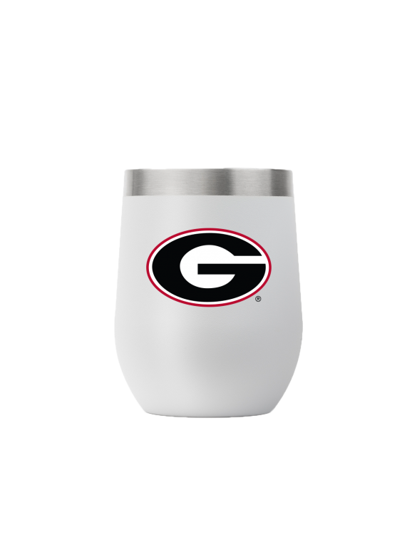 Georgia 12 oz stemless light gray tumbler