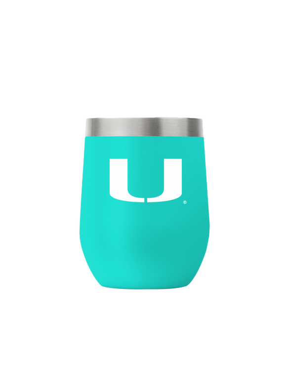 Miami 12 oz stemless teal tumbler